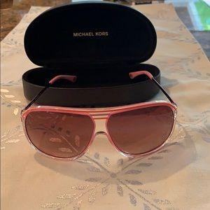 Michael Kors Pink Medina Aviator Sunglasses